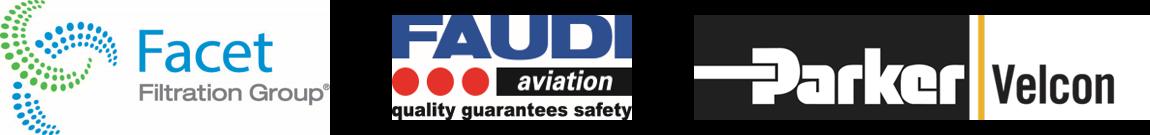 Aviation fuel filtration seminar sponsor logos